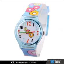 Relógio de fita impresso relógio de criança de plástico