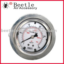 NEW STAINLESS STEEL OIL LIQUID FILLED PRESSURE GAUGE