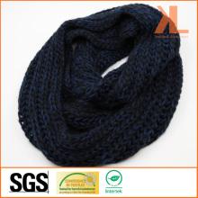 Acrylic Fashion Winter Warm Unisex Blue/ Black Knitted Neck Scarf