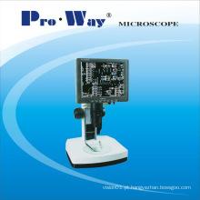 Microscópio estereofónico profissional do vídeo com tela do LCD (LCD-PW55)