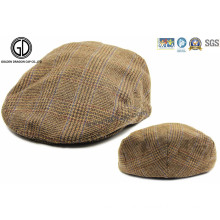 Checked Pattern Fabric Gatsby Hat Newsboy IVY Cap with Lining