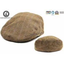 Tela de padrão verificado Gatsby Hat Newsboy Capa IVY com forro