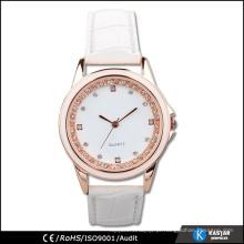 Relogio de relógio de couro para mulheres