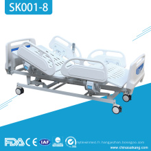 Lit d'urgence réglable électrique à cinq fonctions patient hospitalier SK001-8