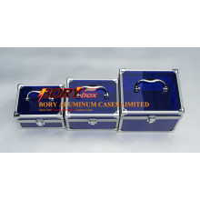Blue Clear Transparent Acrylic Small Custom Make up Box