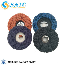discos abrasivos de superficie de disco de aleta flexible para pulir
