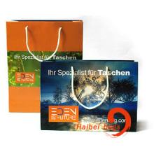 Sacos de compras de papel promocional, saco de papel marrom Kraft (HBPB-5)