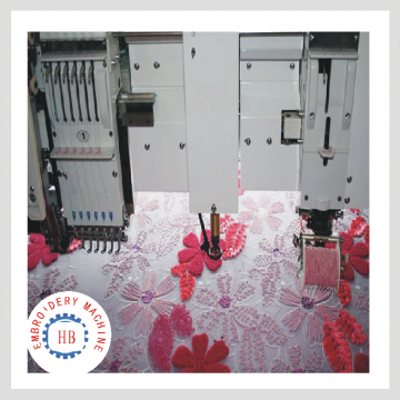 HB- 615+15 Efficient chenille computerized towel embroidery machine