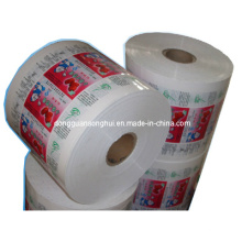 Película de embalaje líquida de plástico para leche / jugo / yogur