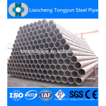 erw weld black round mild carbon steel pipe
