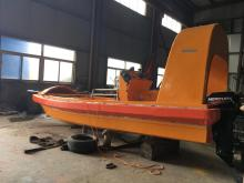 Fast rescue lifeboat with Single Arm Davit