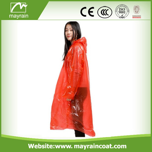 Free Size PE Adult Raincoat