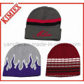 Customs Cheap Acrylic Jacquard Knitted Winter Reversible Beanie