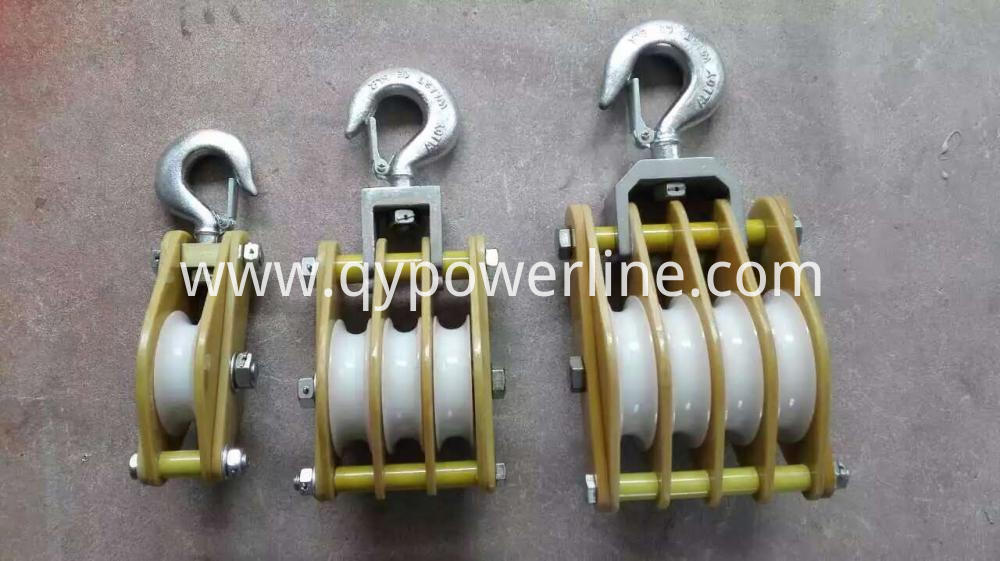 Two Sheave Steel Hoisting Pulley Block wire rope