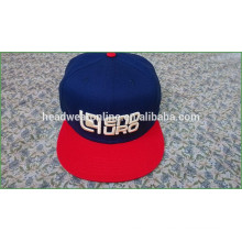 Chapeaux de snapback en broderie personnalisés 3D / chapeaux de snapback de mode