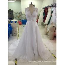 Бренд Aoliweiya Новый реальный образец свадебное платье с мелким бисером