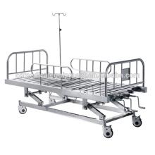 Cama de hospital médica manual de alta qualidade do equipamento ICU 3-Position dos cuidados