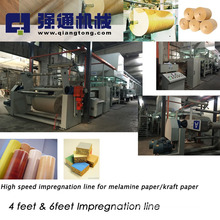 Linha de impregnação de Nantong para papel de melamina / Linha de impregnação para papel kraft