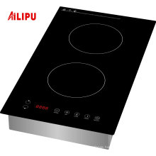 2 Drop in 1800W Domino Vertical induction cooker for USA market