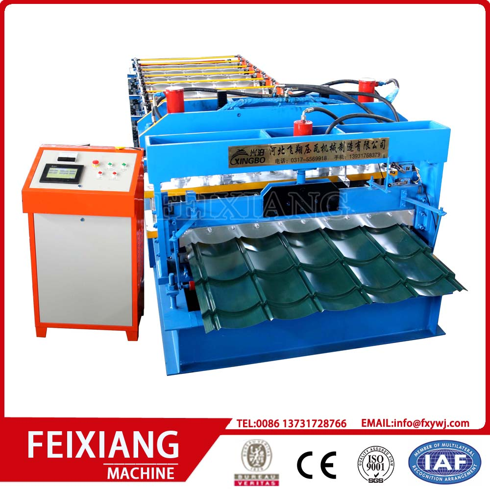 Glazed Aluminum Roof Panel Roll Forming Machine
