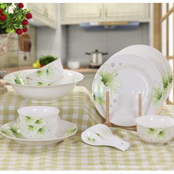 Haonai diseñó la cena hermosa china de hueso conjunto