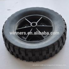 Rodas de plástico roda de borracha maciça de 8 polegadas para lixo