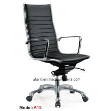 Современный офисный исполнительный металлический поворотный кожаный стул для отдыха (RFT-A15)