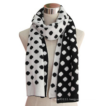 Lady Fashion Winter Acrylic Knitted Cashmere Scarf (YKY4312)