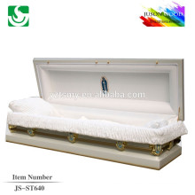 JS-ST640 good quality steel metal casket black knight factory