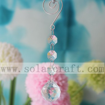 Clear Transparent Crystal Chandelier Almond Ball Prism Accessories 14CM Length