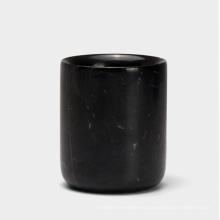 Vaso de mármol natural hogar creativo, titular de cepillo de dientes