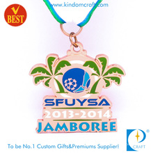 Die Casting Soft Enamel Metal Jamboree Soccer or Football Medal in Special Design
