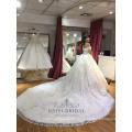 Sexy schulterfrei Elfenbein einfach Ballkleid Vintage Brautkleid Brautkleid