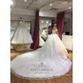 Сексуальная с плеча простой слоновой кости бальное платье Винтаж свадебное платье свадебное платье