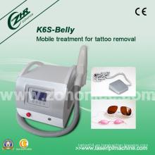 K6s de calidad superior de eliminación de tatuajes Q-Switch YAG Laser Beauty Equipment