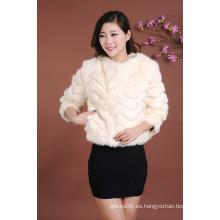 Nuevamente las chaquetas modernas de la chaqueta de las mujeres modernas de la chaqueta ponen en cortocircuito la chaqueta de pieles