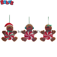 Mais barato Xmas Plush Stuffed Gingerbread Toy Toy homem de Natal