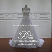 Beautiful Custom Made Puffy A-Line China Express Wedding Gown XF1098 Alibaba Wedding Dress
