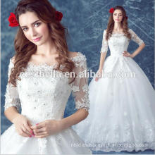 Vestido de novia de lujo vestido de princesa 2016 blanco Vestidos de novia baratos