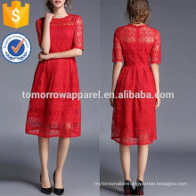 Lace Crochet Eblow Sleeve Dress Manufacture Wholesale Fashion Women Apparel (TA3212D)