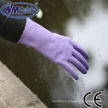 NMSAFETY длинные манжеты перчаток ПВХ