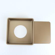 """8,5 """"quadratische Käsekuchenform mit abnehmbarem Boden"""