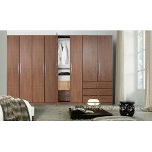 Fashion Bedroom Wooden Wardrobe Cabinet (HF-EY09043)