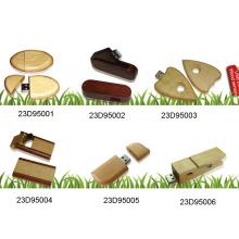 USB Flash Drive W / tampa de madeira (23D95001)