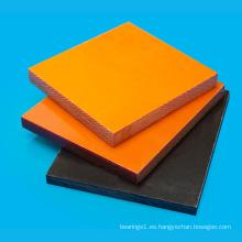 Hoja de resina fenólica de baquelita negra / naranja
