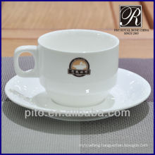 P&Tporcelain customized logo coffee cup and saucer