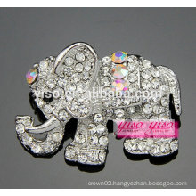 cutie clear and AB stone elephant brooch