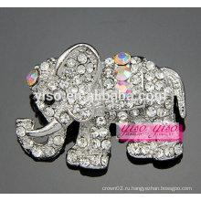 Cutie clear и брошь AB Stone слона