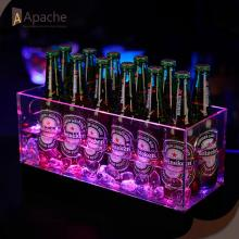 Factory Free sample for Pub Display Rack Acrylic LED Beer Ice Tank Ice Bucket supply to French Polynesia Exporter
