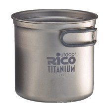 High Quality Titanium Camping Pot 1.2L